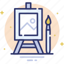 canvas, design, draw, paint, paintbrush, picture icon