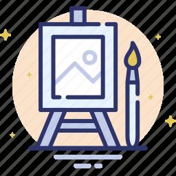 canvas, design, draw, paint, paintbrush, picture icon