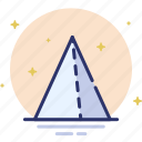 design, pyramid, shape, triangle icon