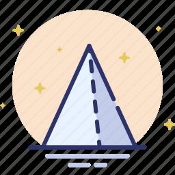 design, pyramid, shape, triangle icon