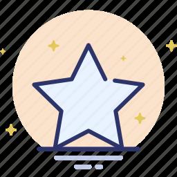 shape, star icon
