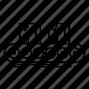 belt, box, business, conveyor, elements, factory, line, management icon