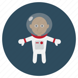 astronaut, fly, human, oxygen, space suit, universe icon