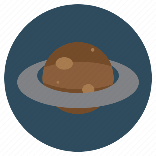 brown, planet, ring, saturn, space, universe icon