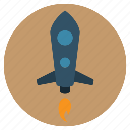 fire, fly, nasa, rocket, space, spaceship, start icon
