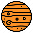 jupiter, planet, science, solar, system icon