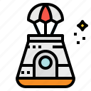 automobile, capsule, space, transportation icon