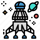 city, galaxy, habitat, martian, universe icon