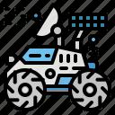 automobile, moon, rover, rovermoon, transportation icon