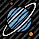 astronomy, planet, solar, system, uranus icon