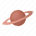 planet, ring, saturn, space, universe icon