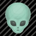 alien, head, space, universe icon