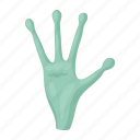 alien, finger, hand, space, universe icon