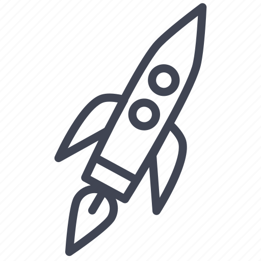 astronomy, large, rocket, space, spacecraft, spaceship icon