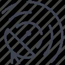antenna, communication, network, satellite, space, technology icon