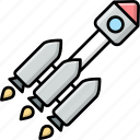 spacecraft, spaceship, rocket