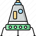 lunar, module, excursion, space station
