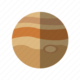 astronomy, jupiter, planet, science, space icon