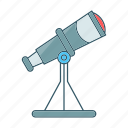 astronomy, observation, space, stars, telescope icon
