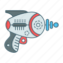 galaxy, gun, laser, space, war, weapon icon