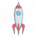 rocket, seo, space icon