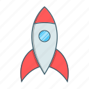 missile, rocket, seo, space, spaceship icon