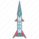 launch, missile, rocket, seo, spaceship, startup icon