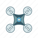 camera, drone, explore, quadcopter icon