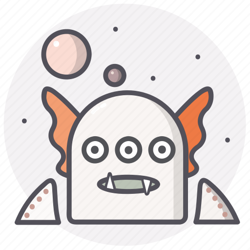 allien, astronomy, monster, planets, universe icon