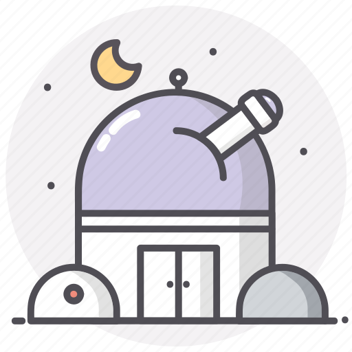 astronomy, moon, observatory, space icon