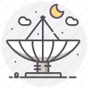 astronomy, moon, radio telescope, space icon
