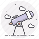 astronomy, science, sky, space, telescope icon