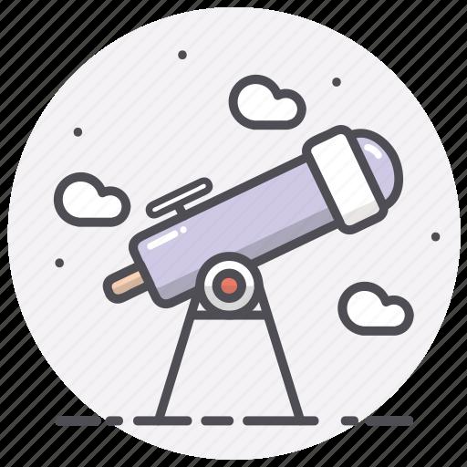 astronomy, science, sky, space, telescope icon