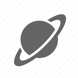 astronomy, planet, rings, saturn, science, space icon