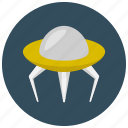 alien, ship, space, transportation icon