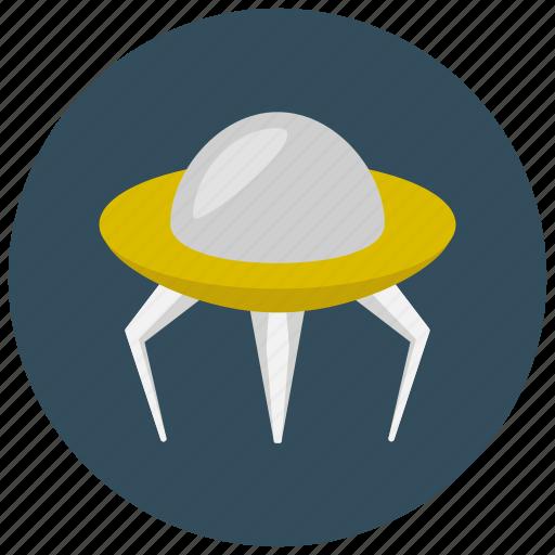 alien, ship, space, transportation icon