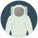 astronaut, helmet, space, uniform icon