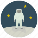 astronaut, stargaze, stars, uniform icon