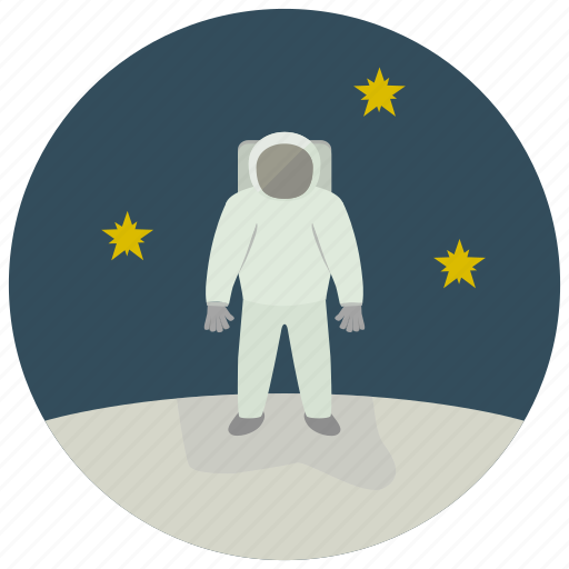 astronaut, stargaze, stars, uniform icon