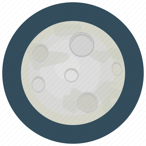 clear, full, moon, night, weather icon