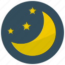 moon, night, stargaze, stars icon