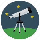 equipment, space, star, stargaze, telescope icon