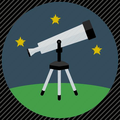 equipment, space, star, stargaze, telescope icon