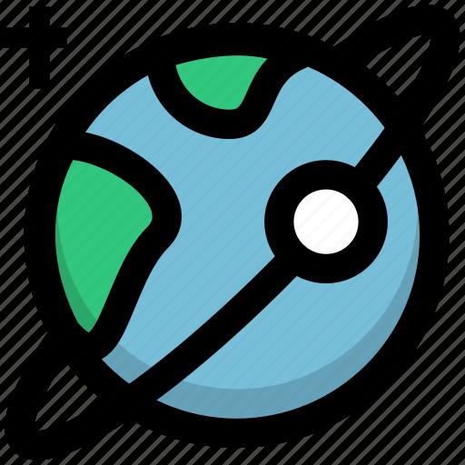 globe, planet, satellite, space, spaceship icon