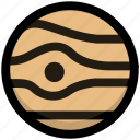 jupiter, planet, science, space, universe icon