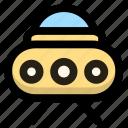 alien, extraterrestrial, saucerman, ufo icon