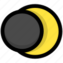 lunar eclipse, planet, space, sun icon