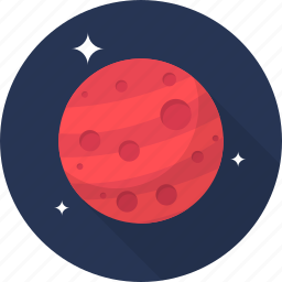 mars, planet, space icon