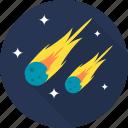 asteroid, comet, meteor, meteorite, space