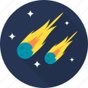 comet, asteroid, meteorite, meteor, space icon